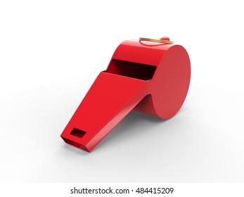 Plastic Whistle 3d Render