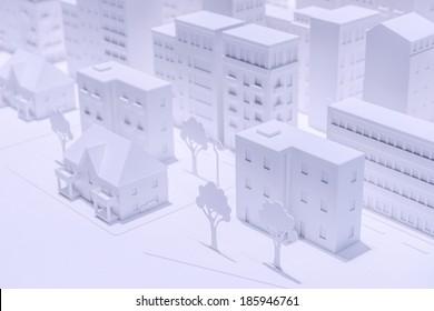 Plastic White Model Houses