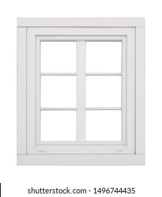 Plastic window on white background
