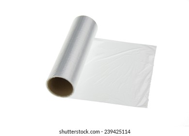 plastic wrap on a white background