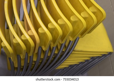 Plastic Yellow Stacking Chairs