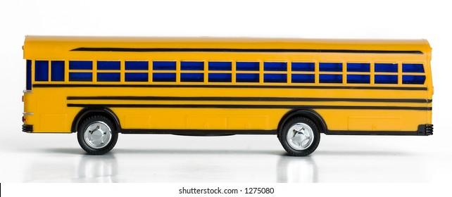 Plastic Yellow Toy School Bus