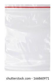 Plastic zipper bag, Isolated on white