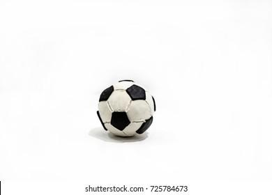 Plasticine artwork. Soccer ball made from plasticine.