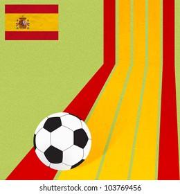 Plasticine flag football soccer on colorful line background