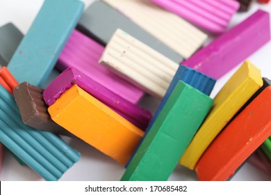 plasticine many bars of different colors
