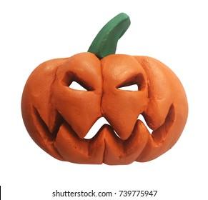Plasticine orange pumpkin