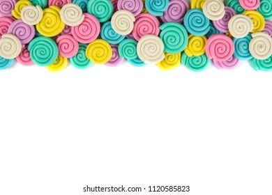 Plasticine set isolated on white