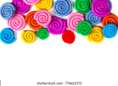 Plasticine set isolated on white