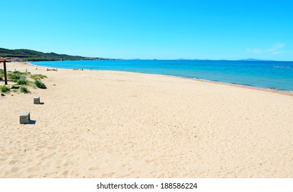 Platamona beach on a clear summer day