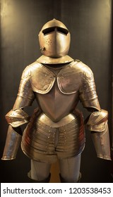 Plate armor at the Palace Armoury. Grandmaster's Palace in Valletta, Malta. 13 March 2018