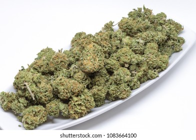 Plate of Cheese strain of cannabis