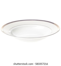 Plate empty isolated