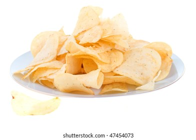 Plate full of chips