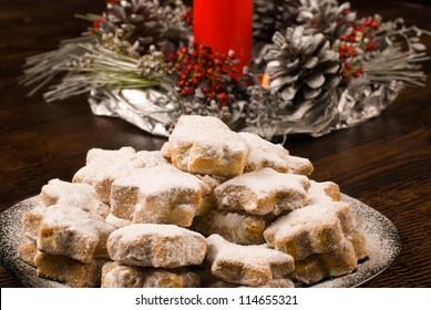 A plate of homemade nevaditos, a Spanish Christmas treat