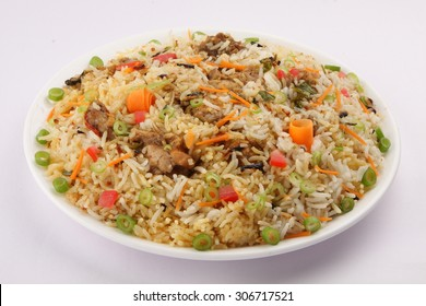 Plate i\of Indian chicken  Biriyani.