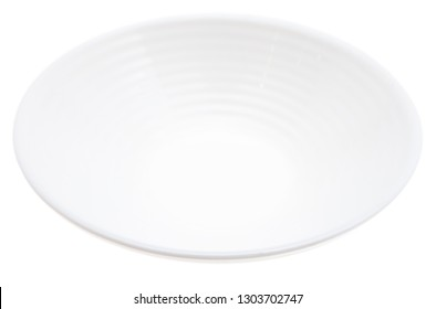 Plate isolated on white background .