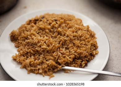 A Plate of Nigerian Jollof Rice