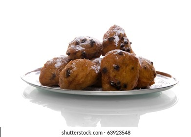 a plate with oliebollen, a dutch tradition