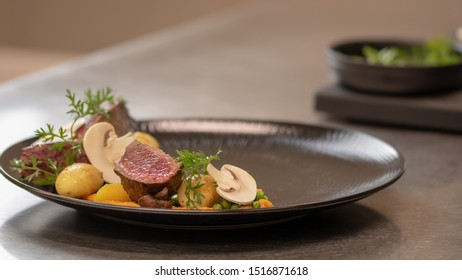 Plate on a french gastronomy restaurant