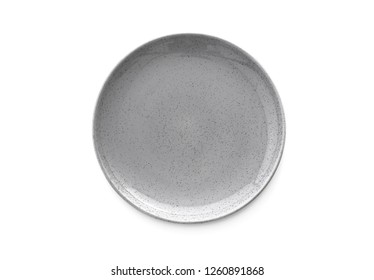 plate on isolated white background