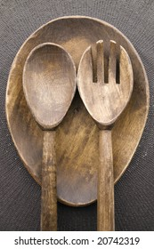 Plate, Place Mat, Spoon and Fork