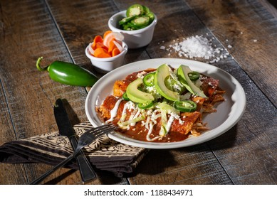 Plate of Red Enchiladas