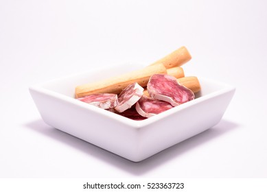A plate of Spanish sausage