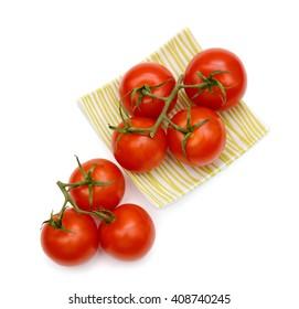 plate of tomatoes isolated on white
