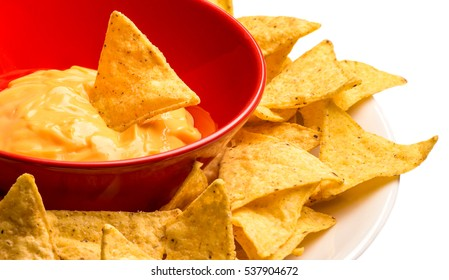 Plate of tortilla chips