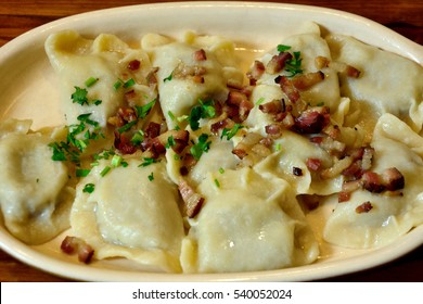 Plate of traditional Polish pierogi
