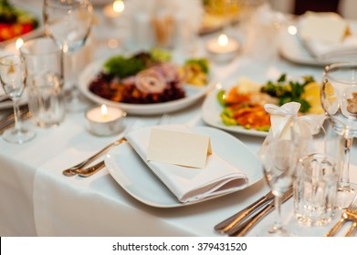 Plate at the wedding table