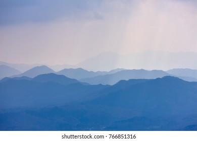Plateau of Japan in Okayama in autumn