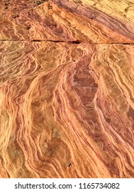 Plateau from yellow and red sandstone. The area of Valley of Fire in Nevada, USA