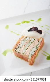 plated smoked salmon terrine appetizer starter