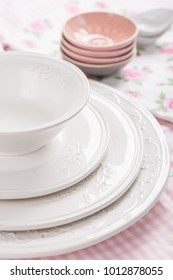 Plates, bowls and other kitchen utensil
