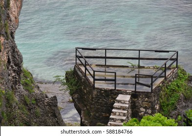 the platform for admiring ocean view
