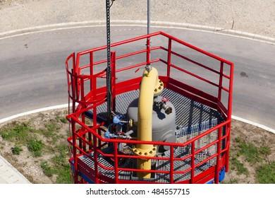 Platform on the top of reservoir / Oil industry