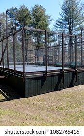 platform tennis also called paddle court outdoor sport at private suburban club
