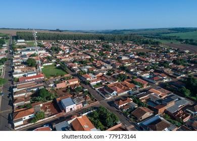 PLATINA, SP/ BRAZIL - November 2017: Aerial view of the city