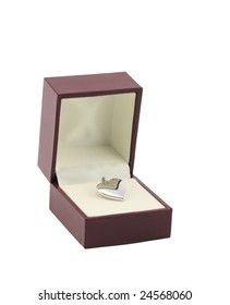 Platinum Heart Locket in box