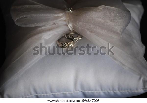 Platinum Ladies Wedding Ring White Gold Stock Photo Edit Now