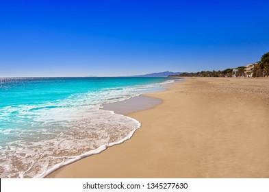 Platja Cap de San Pere beach in Cambrils Tarragona at Costa Dorada of Catalonia