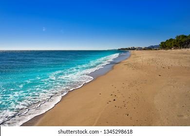 8a40f9402 Platja Casa dels LLadres beach playa in Mont-Roig del Camp of Tarragona at  Costa