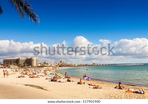 Platja de Palma Beach, Mallorca, Balearen, Spanien
