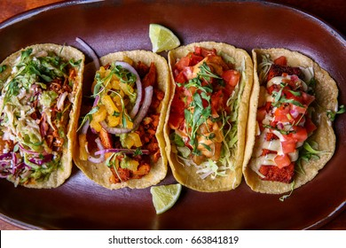 Platter of Assorted Mexican Tacos