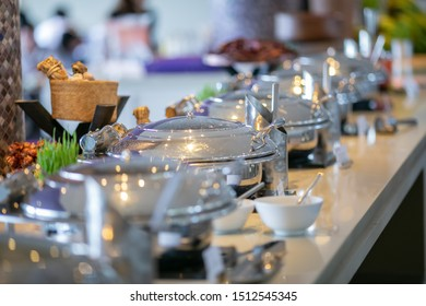 Platters and trays setup for Dinner