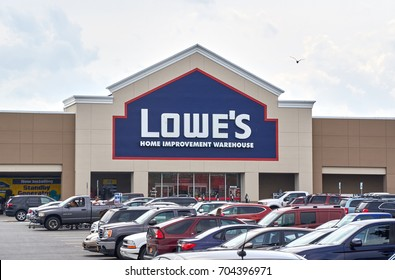 PLATTSBURGH, USA - AUGUST 23, 2017 : Lowe's store. Lowe's Companies, Inc. is a Fortune 500 American company that operates a chain of retail home improvement and appliance stores