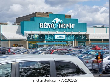 PLATTSBURGH, USA - AUGUST 23, 2017 : Reno Depot store and parking. Reno-Depot is a Canadian chain of home supply stores owned by Lowe's