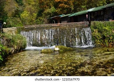 Plava Voda, Travnik - October 11, 2018 : Beautiful autumn view
